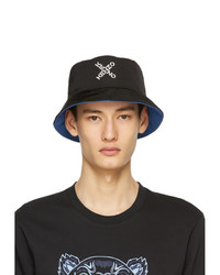 Kenzo Black And Blue Sport Little X Bucket Hat