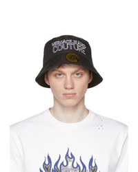 VERSACE JEANS COUTURE Black And White Logo Bucket Hat