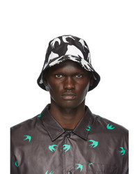 McQ Alexander McQueen Black And White Swallow Bucket Hat