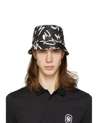 Neil Barrett Black Graffiti Bucket Hat