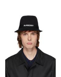 Burberry Black Jersey Bucket Hat