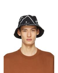 Acne Studios Black Printed Bucket Hat