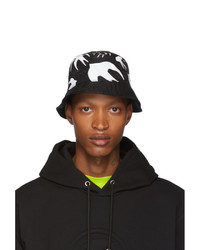 McQ Alexander McQueen Black Swallow Bucket Hat