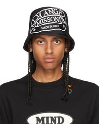 Palm Angels Black White Missoni Edition Heritage Bucket Hat