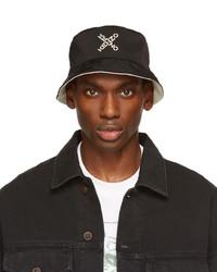 Kenzo Black White Sport Bucket Hat