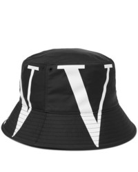 Valentino Logo Print Canvas Bucket Hat