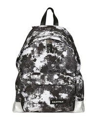 Black and White Print Canvas Backpack