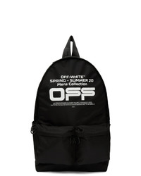 Off-White Black Wavy Logo Backpack