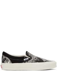 Vans Black Og Classic Slip On Lx Sneakers