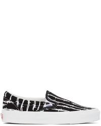 Vans Black Vault Barbed Wire Og Classic Slip On Sneakers