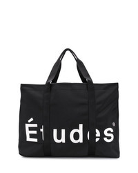 Black and White Print Canvas Tote Bag