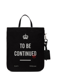 Neil Barrett Black And White To Be Continued Tote