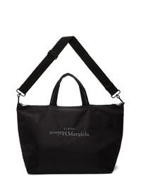 Maison Margiela Black Embroidered Tote
