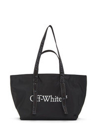 Off-White Black Nylon Small Commercial Tote