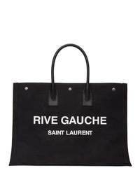 Saint Laurent Black Rive Gauche Noe Tote