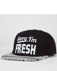 Absolutely Sorry Im Fresh Snapback Hat Black One Size For 234050100