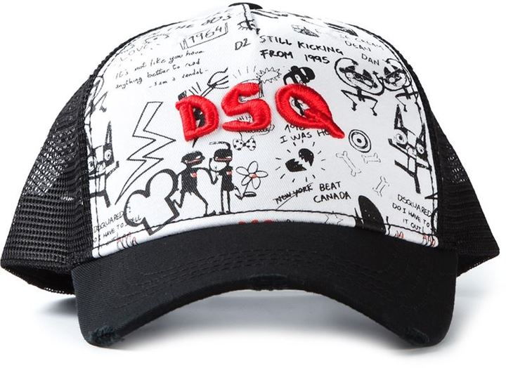 Dsquared2 Printed Baseball Cap   Where to buy   how to wear 35ca8377a3a9