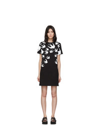 McQ Alexander McQueen Black And White Swallow T Shirt Dress