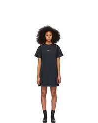 Acne Studios Black Reverse Logo T Shirt Dress