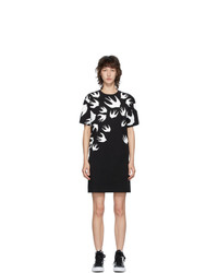 McQ Alexander McQueen Black Swallow T Shirt Dress