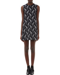 Saint Laurent Revolver Print Crepe Dress