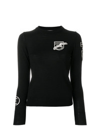EACH X OTHER Badge Detail Crew Neck Sweater