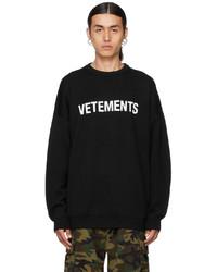 Vetements Black Logo Sweater