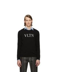 Valentino Black Vltn Crewneck Sweater