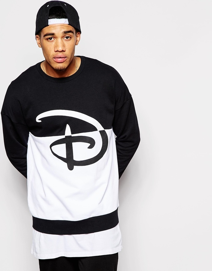 ... Asos Brand Oversized Sweatshirt With Disney Print ...
