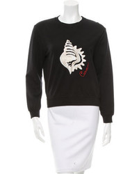 Carven Embroidered Pullover Sweatshirt