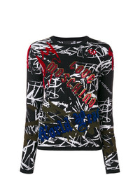 Love Moschino Graffiti Print Jumper