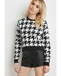 Forever 21 Houndstooth Pullover Sweatshirt