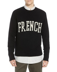 French Connection Intarsia Wool Blend Sweater