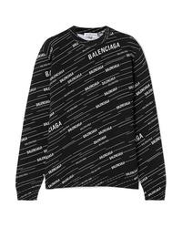 Balenciaga Intarsia Wool Blend Sweater