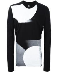 Julius printed long sleeve sweater medium 876845