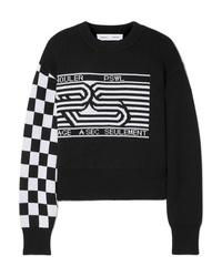 Proenza Schouler Pswl Wool Blend Jacquard Sweater