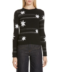 RED Valentino Star Jacquard Sweater