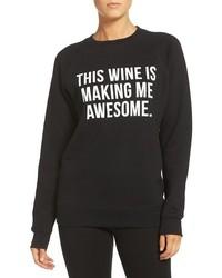 Brunette The Label This Wine Crewneck Sweatshirt