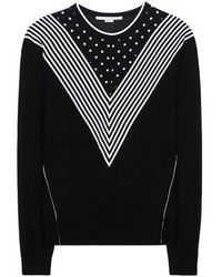 Stella McCartney Virgin Wool And Printed Silk Sweater