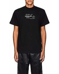 Adidas Originals By Alexander Wang Logo Cotton T Shirt