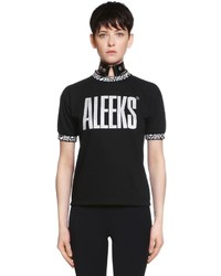 Aleeks jersey t shirt w jacquard trim medium 6372880