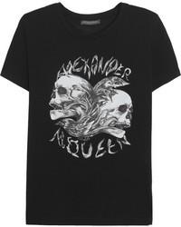 Alexander McQueen Skull Print Cotton T Shirt