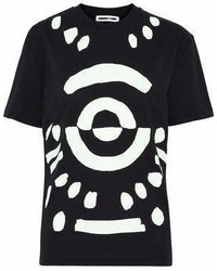 MCQ Alexander Ueen Printed Cotton Jersey T Shirt