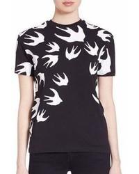 MCQ Alexander Ueen Swallow Printed Cotton T Shirt