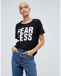Noisy May Alfred Fearless Print T Shirt