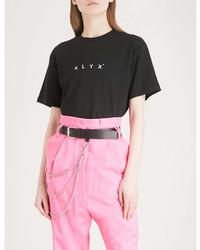 Alyx Logo Print Cotton Jersey T Shirt