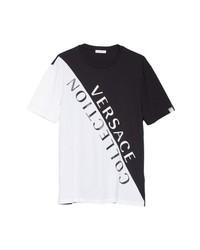 Versace Collection Angled Logo T Shirt