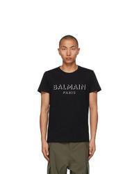 Balmain Black 3d Logo T Shirt