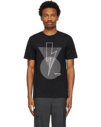 Neil Barrett Black Bauhaus Bolt T Shirt
