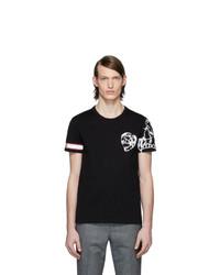 Alexander McQueen Black Biker T Shirt